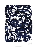 Indigo Swirls II 限定版アートプリント : ジョディ・フックス