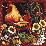 Rooster Harvest Poster by Suzanne Etienne