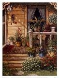 Summer Front Porch Kunstdruck von Janet Kruskamp