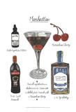 Classic Cocktail - Manhattan Print by Naomi McCavitt