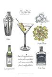 Classic Cocktail - Martini Prints by Naomi McCavitt
