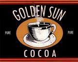 Golden Sun Cocoa Plakater af Catherine Jones