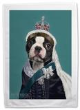 Pets Rock Queen Vic Tea Towel Novelty