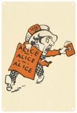Alice in Wonderland - Mad Hatter Running Blechschild