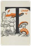Alice in Wonderland - Mushroom Blechschild