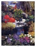 Giardino con laghetto Poster di Kent Wallis