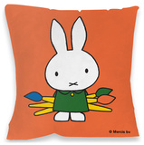 Miffy Paintbrushes Cushion Throw Pillow