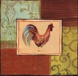 Patchwork Rooster III Affischer av Jennifer Sosik