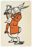 Alice in Wonderland - White Rabbit Blechschild