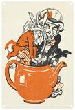 Alice in Wonderland - Climbing in Teapot Blechschild