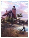 Eagle Harbor Light Art by Joe Sambataro