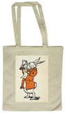 Alice in Wonderland - White Rabbit Tote Bag Indkøbstaske