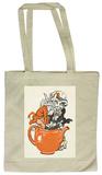 Alice in Wonderland - Climbing in Teapot Tote Bag Draagtas