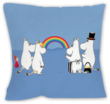 The Moomins Look at a Rainbow Cushion Throw Pillow