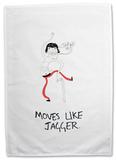 Doodles - Moves like Jagger Tea Towel Regalos