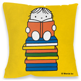 Miffy on Stack of Books Cushion Pyntepute