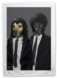 Pets Rock Hit Dogs Tea Towel Novelty