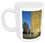 Double Yellow Lines Flower Mug Mug