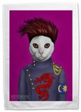 Pets Rock B Cat Tea Towel Novelty