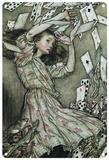 Alice in Wonderland - Falling Cards Blechschild