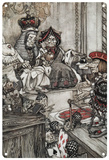 Alice in Wonderland - Knave of Hearts Blechschild