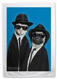 Pets Rock Brothers Tea Towel Regalos