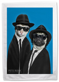 Pets Rock Brothers Tea Towel Novelty
