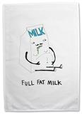 Doodles - Full Fat Milk Tea Towel Regalos
