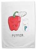 Doodles - Pepper Tea Towel Regalos