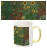 Gustav Klimt - Garden with Sunflowers Mug Mug