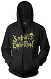 Zip Hoodie: Social Distortion- Sloppy Logo Sweat à capuche avec fermeture à glissière