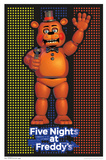 Five Nights At Freddy'S- Freddy Fazbear Blacklight Poster Prints