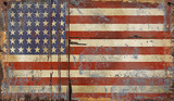 Old Glory Wood Sign