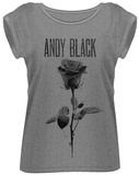 Women's: Andy Black- Black Rose T-Shirt