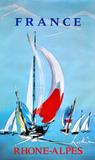 Rhone Alpes - France - Sailing Samlarprint av Georges Mathieu