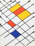 Damier from Derriere Le Miroir Samletrykk av Alexander Calder
