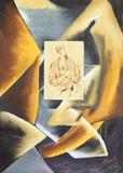 Cubist Abstract with Portrait Samlarprint av Sandro Chia