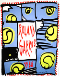 Roland Garros 1988 - Alechinsky Collectable Print by  Alechinsky