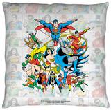 DC - Classic Squares Throw Pillow Throw Pillow