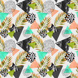 Abstract Summer Geometric Seamless Pattern Prints by  tanycya