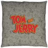 Tom And Jerry - Logo Throw Pillow Throw Pillow
