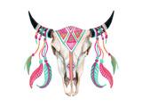 Watercolor Cow Skull Giclée-Premiumdruck von  tanycya