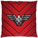 Justice League of America - Ww Emblem Throw Pillow Throw Pillow