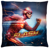 The Flash - Fastest Man Throw Pillow Throw Pillow