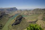 View of river canyon, Blyde River Canyon, Greater Drakensberg, Mpumalanga Fotoprint van Bob Gibbons
