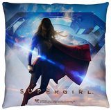 Supergirl - Endless Sky Throw Pillow Throw Pillow