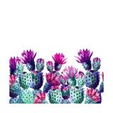 Watercolor Cactus Affiche par  tanycya