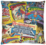 Superman - Fan Throw Pillow Throw Pillow