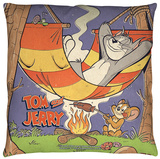 Tom And Jerry - Rest And Relaxation Throw Pillow Throw Pillow