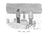 """Total . . . yoga . . . freak."" - New Yorker Cartoon Premium Giclee Print by Danny Shanahan"